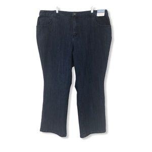 Liz & Me NWT Boot Cut Jeans Size 24W Blue Stretchy